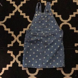 Children's Place Blue Jean Overall dress 5T